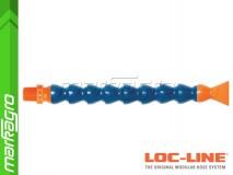 """Chladící hadice s plochou tryskou 1 1/4"""" (~30,1 mm) s vnějším závitem NPT 3/8"""", délka 400 mm - LOC-LINE (P14030)"""