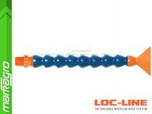 """Chladící hadice s plochou tryskou 2 1/2"""" (~63,5 mm) s vnějším závitem NPT 3/8"""", délka 400 mm - LOC-LINE (P14040)"""