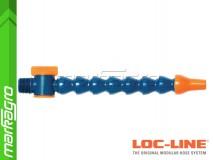 """Chladící hadice s kruhovou tryskou Ø 3/8"""" (~9,5 mm) s vnějším závitem NPT 3/8"""" s ventilem, délka 400 mm - LOC-LINE (P1402Z)"""