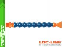 """Chladící hadice s plochou tryskou 1 1/4"""" (~30,1 mm) s vnějším závitem NPT 1/2"""", délka 400 mm - LOC-LINE (P14130)"""