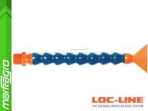 """Chladící hadice s plochou tryskou 2 1/2"""" (~63,5 mm) s vnějším závitem NPT 1/2"""", délka 400 mm - LOC-LINE (P14140)"""