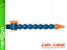 """Chladící hadice s kruhovou tryskou Ø 1/4"""" (~6.40 mm) s vnějším závitem NPT 1,2"""" s ventilem, délka 400 mm - LOC-LINE (P14011Z)"""