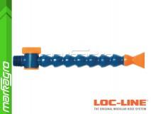 """Chladící hadice s plochou tryskou 1 1/4"""" (~30,1 mm) s vnějším závitem NPT 1/2"""" s ventilem, délka 400 mm - LOC-LINE (P1413Z)"""