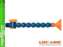 """Chladící hadice s plochou tryskou 2 1/2"""" (~63,5 mm) s vnějším závitem NPT 1/2"""" s ventilem, délka 400 mm - LOC-LINE (P1414Z)"""