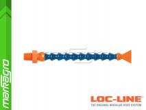 """Chladící hadice s plochou tryskou 1"""" (~25,4 mm) s vnějším závitem NPT 1/8"""", délka 400 mm - LOC-LINE (P04040)"""