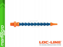 """Chladící hadice s kruhovou tryskou Ø 1/8"""" (~3,2 mm) s vnějším závitem NPT 1/8"""", délka 400 mm - LOC-LINE (P04020)"""