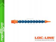 """Chladící hadice s kruhovou tryskou Ø 1/16"""" (~1,6 mm) s vnějším závitem NPT 1/4"""", délka 400 mm - LOC-LINE (P04110)"""
