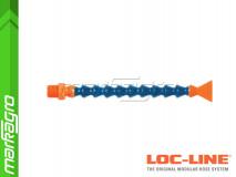 """Chladící hadice s plochou tryskou 1"""" (~25,4 mm) s vnějším závitem NPT 1/4"""", délka 400 mm - LOC-LINE (P04140)"""