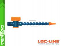"""Chladící hadice s kruhovou tryskou Ø 1/8"""" (~3,2 mm) s vnějším závitem NPT 1/4"""" s ventilem, délka 400 mm - LOC-LINE (P0412Z)"""
